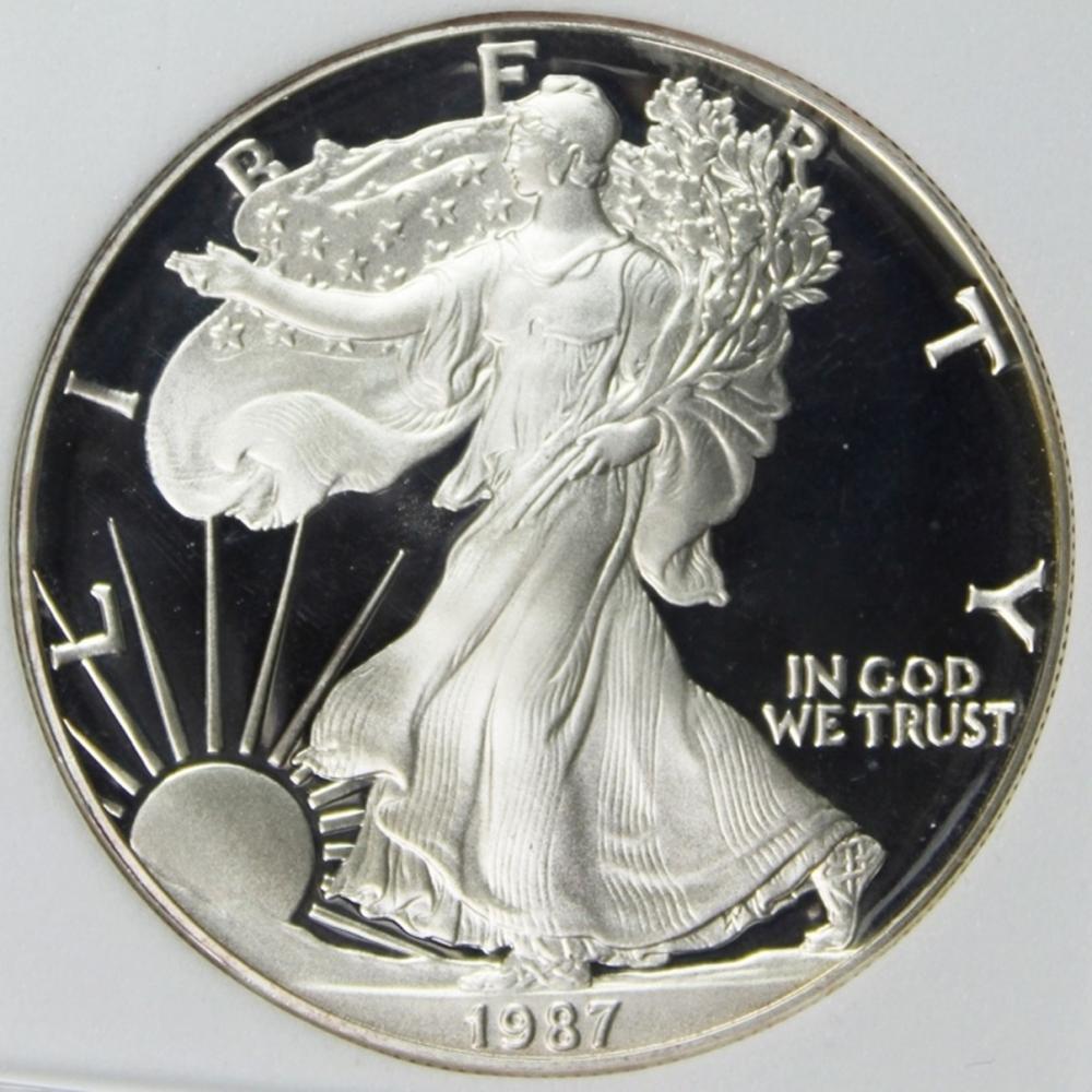 1987-S AMERICAN SILVER EAGLE