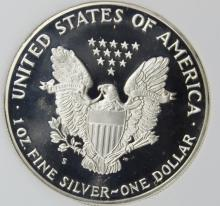 Lot 134: 1987-S AMERICAN SILVER EAGLE