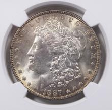 Lot 143: 1887 MORGAN DOLLAR