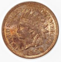 Lot 147: 1906 INDIAN CENT