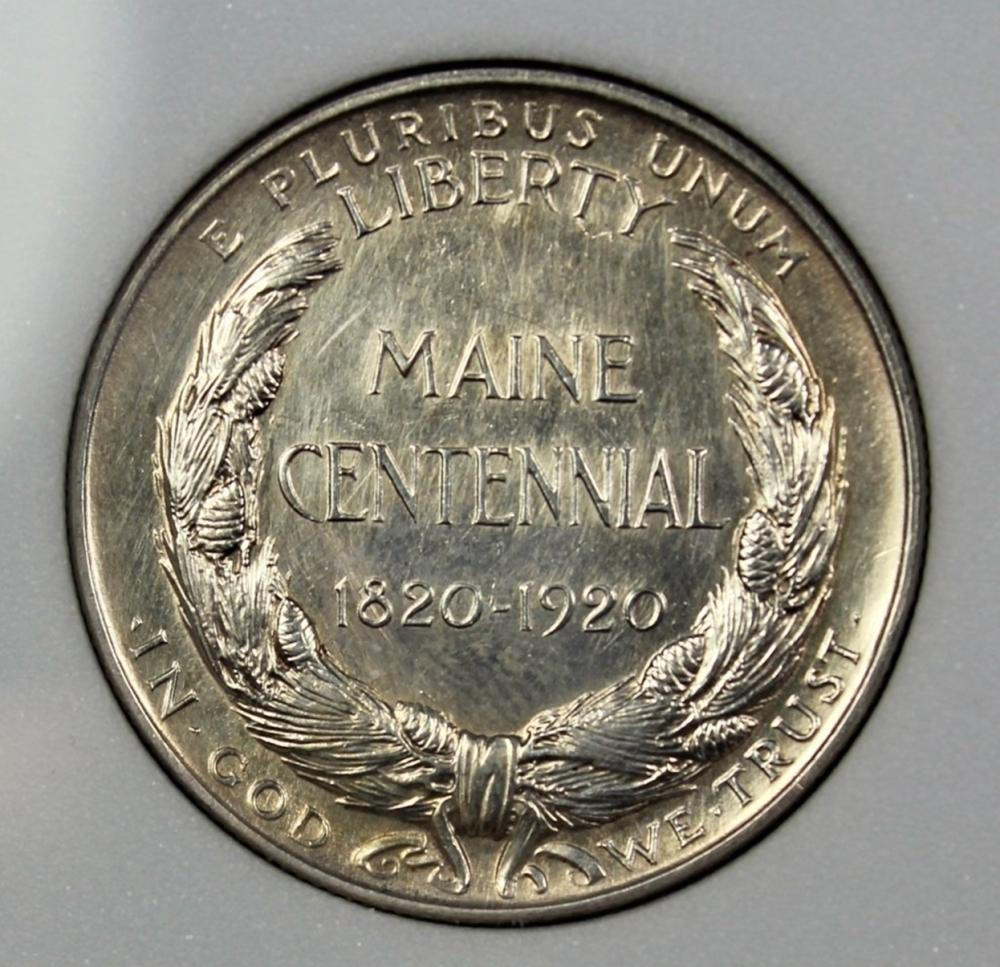 Lot 156: 1920 MAINE HALF DOLLAR