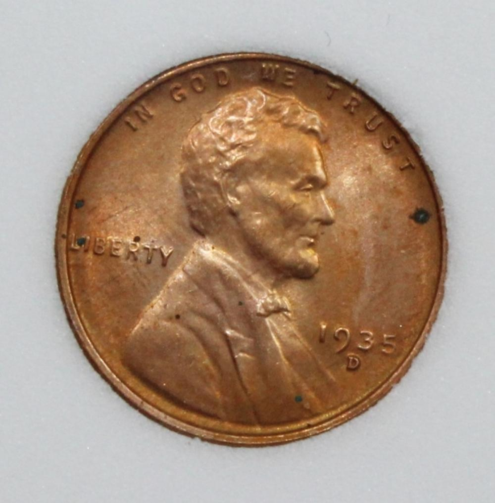Lot 151: 1935-D LINCOLN CENT