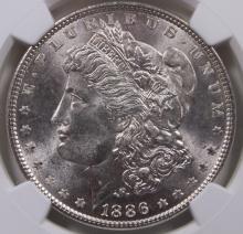 Lot 154: 1886 MORGAN SILVER DOLLAR
