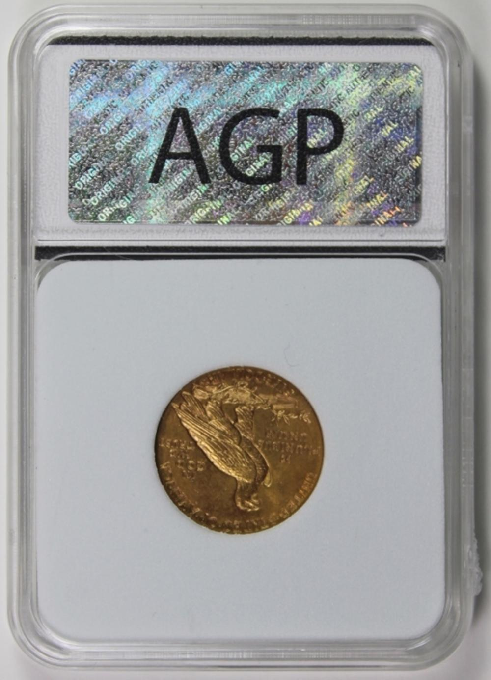 Lot 163: 1910 $5.00 GOLD INDIAN