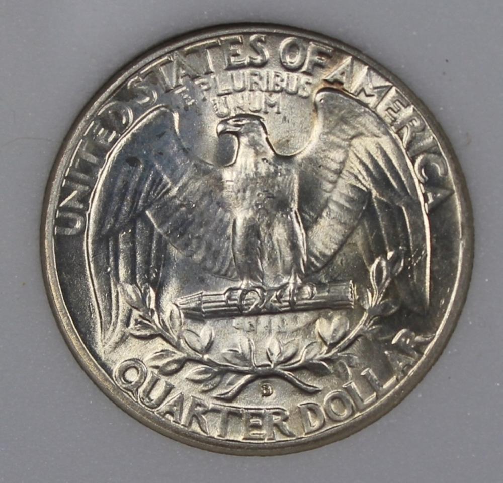 Lot 169: 1936-D WASHINGTON QUARTER NGP