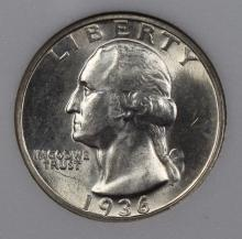 Lot 169: 1936-D WASHINGTON QUARTER NGP