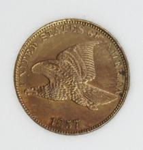 Lot 174: 1857 FLYING EAGLE CENT