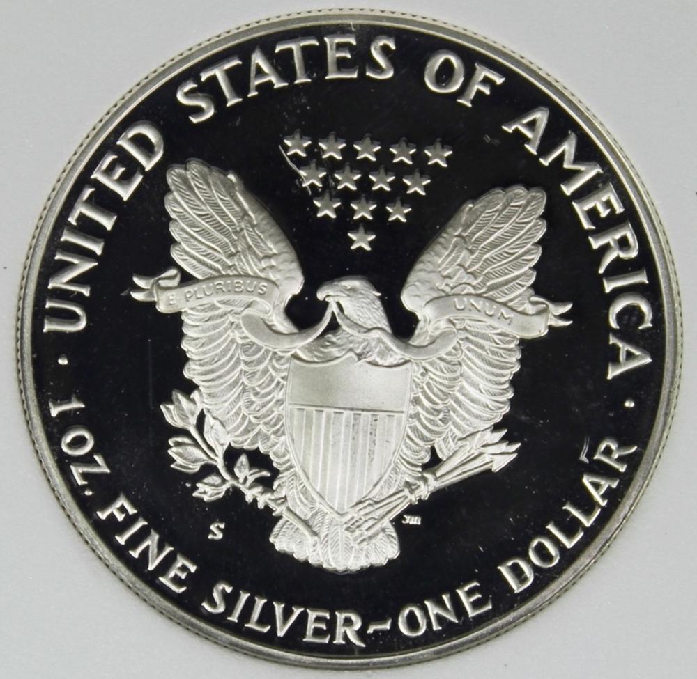 Lot 176: 1988-S AMERICAN SILVER EAGLE