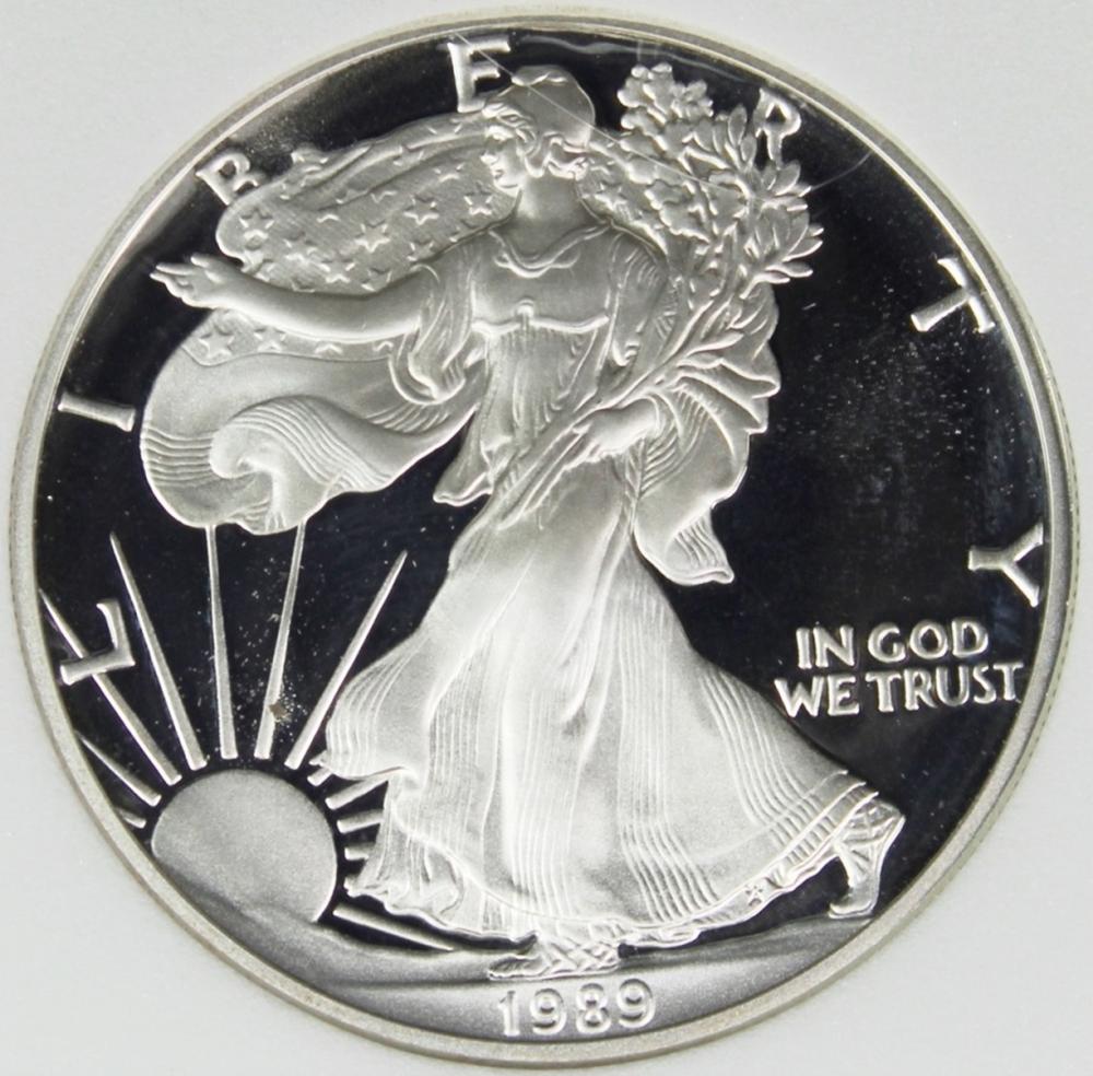 1989-S AMERICAN SILVER EAGLE