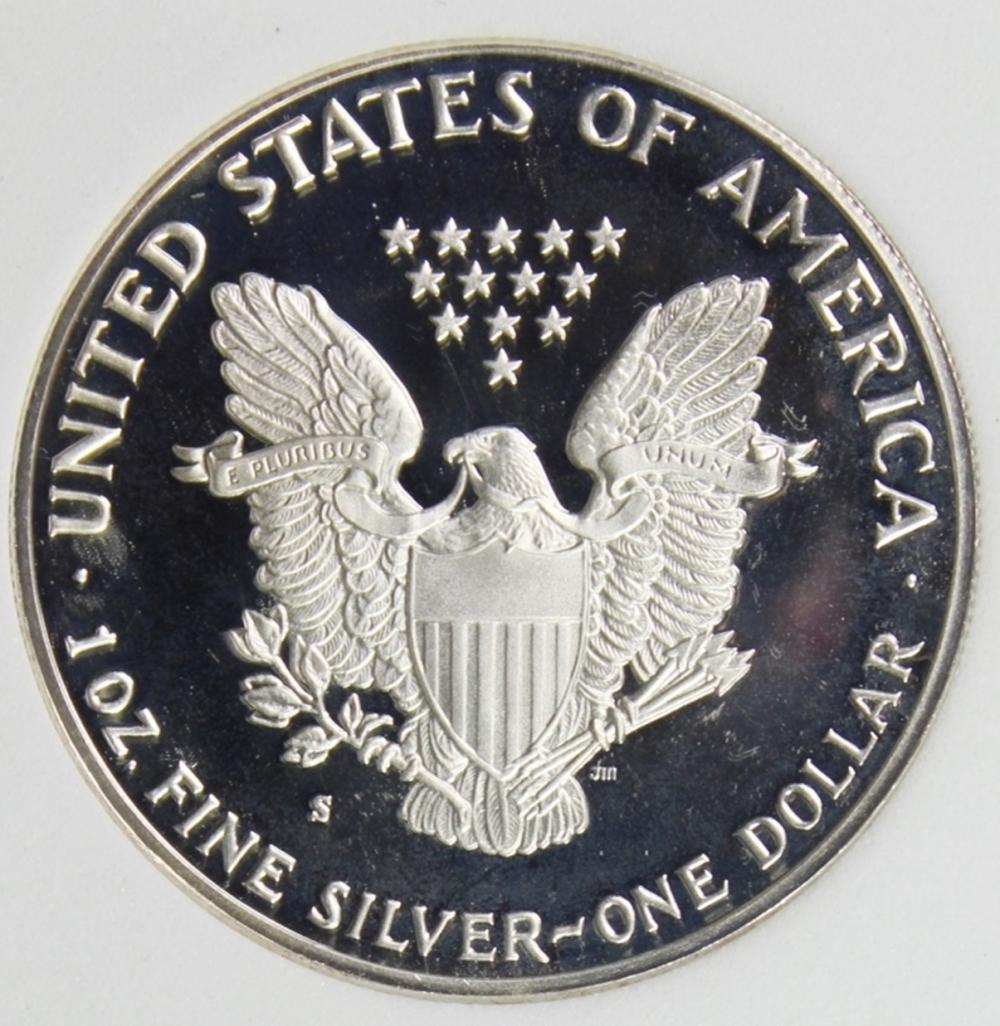 Lot 178: 1986-S AMERICAN SILVER EAGLE