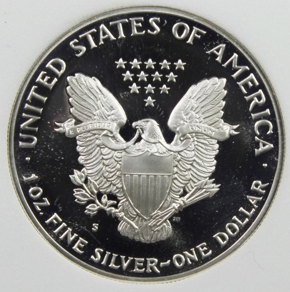 Lot 189: 1990-S AMERICAN SILVER EAGLE