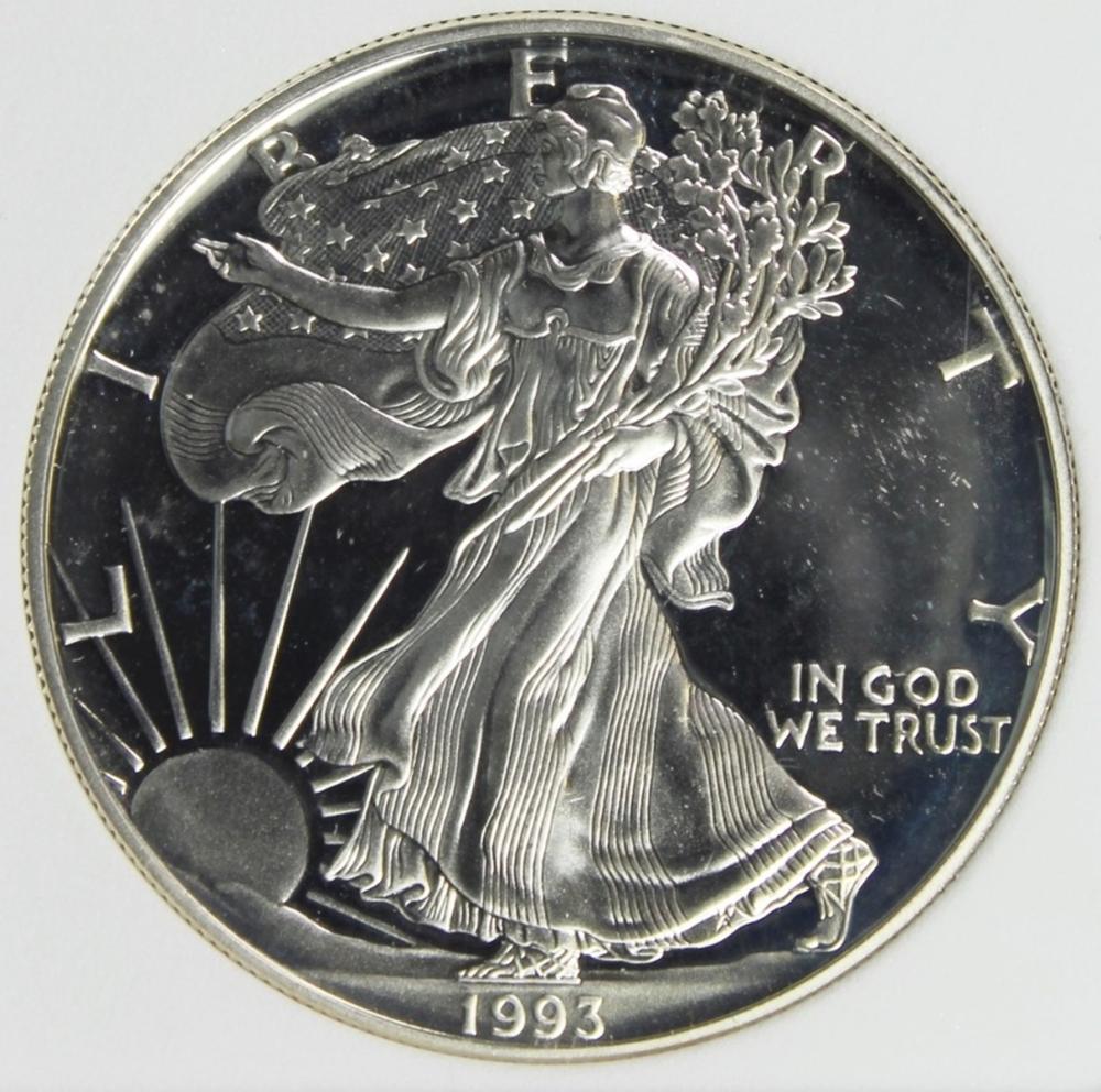1993-P AMERICAN SILVER EAGLE