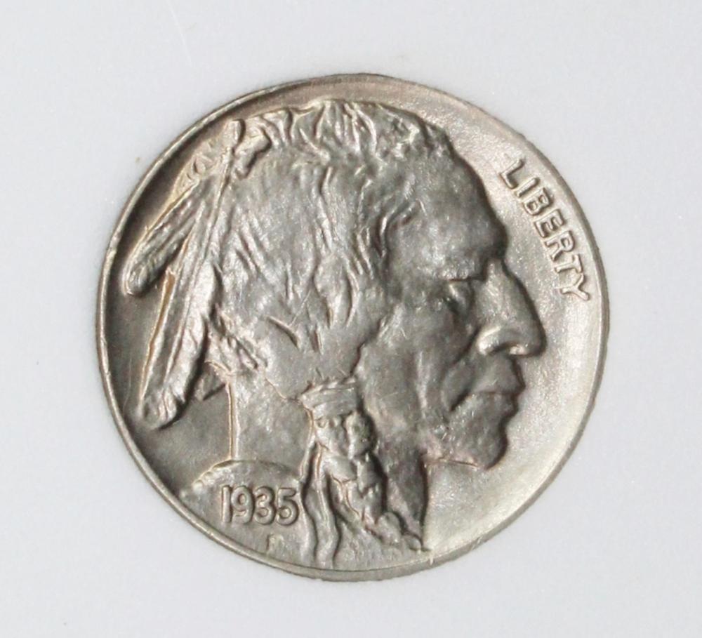 Lot 195: 1935 BUFFALO NICKEL