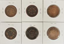 Lot 216: LARGE CENT LOT: 6 COINS TOTAL