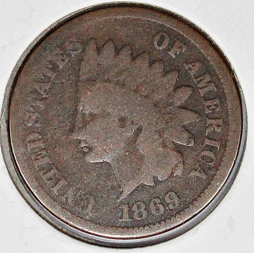 Lot 222: 1869 INDIAN CENT