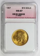 Lot 229: 1907 $10.00 INDIAN GOLD