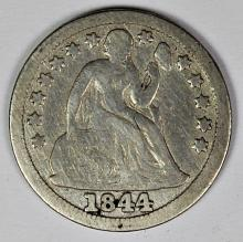 Lot 232: 1844 SEATED DIME