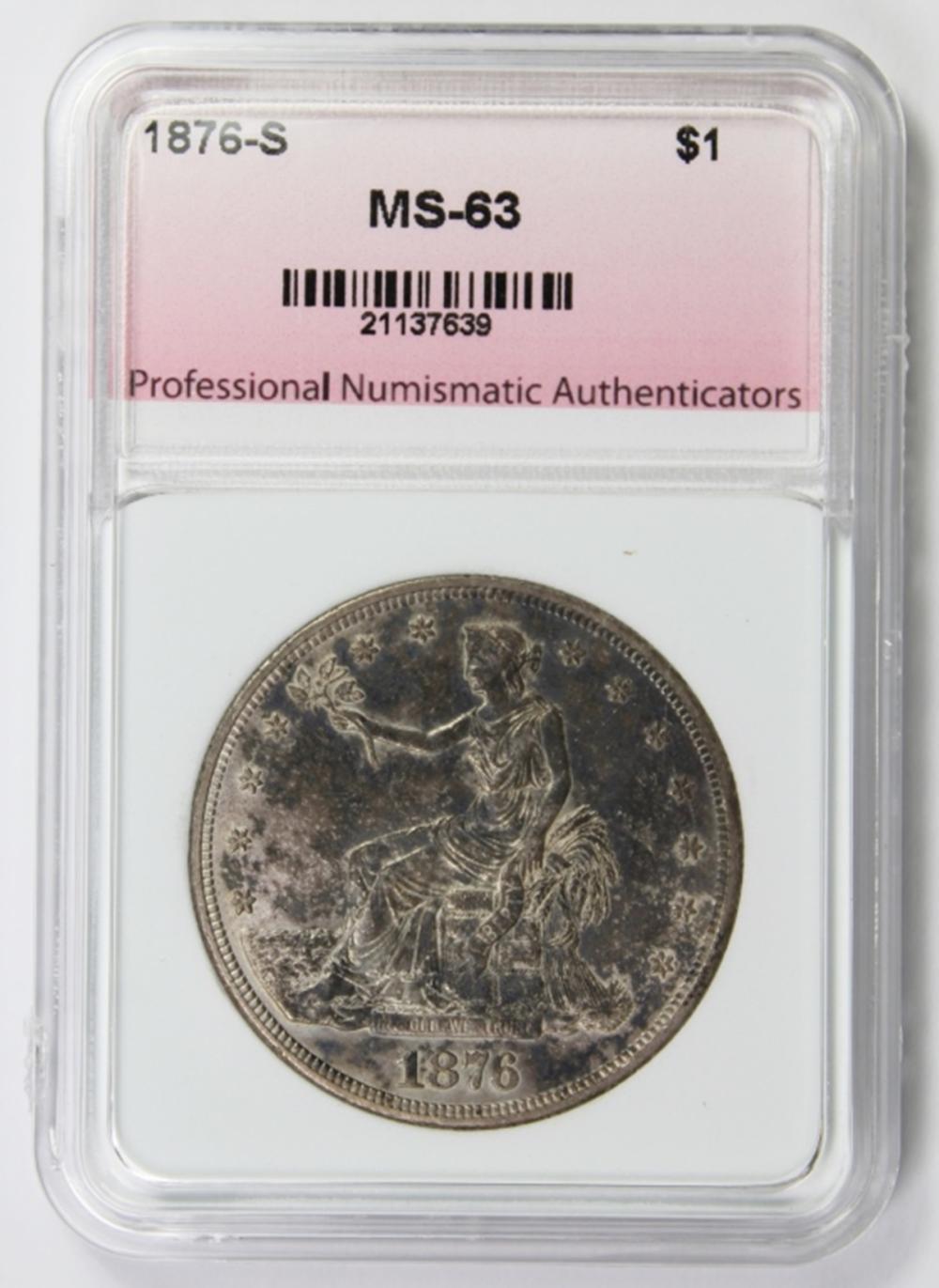 Lot 248: 1876-S TRADE DOLLAR