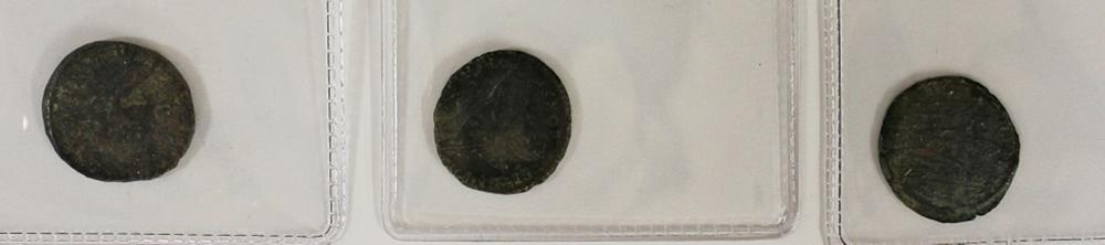Lot 237: THREE ANCIENT COINS