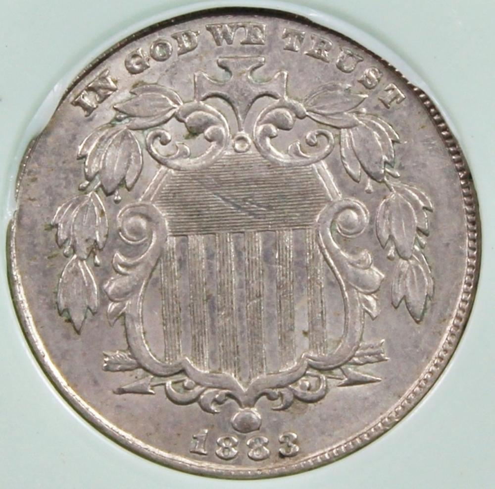Lot 250: 1883 SHIELD NICKEL