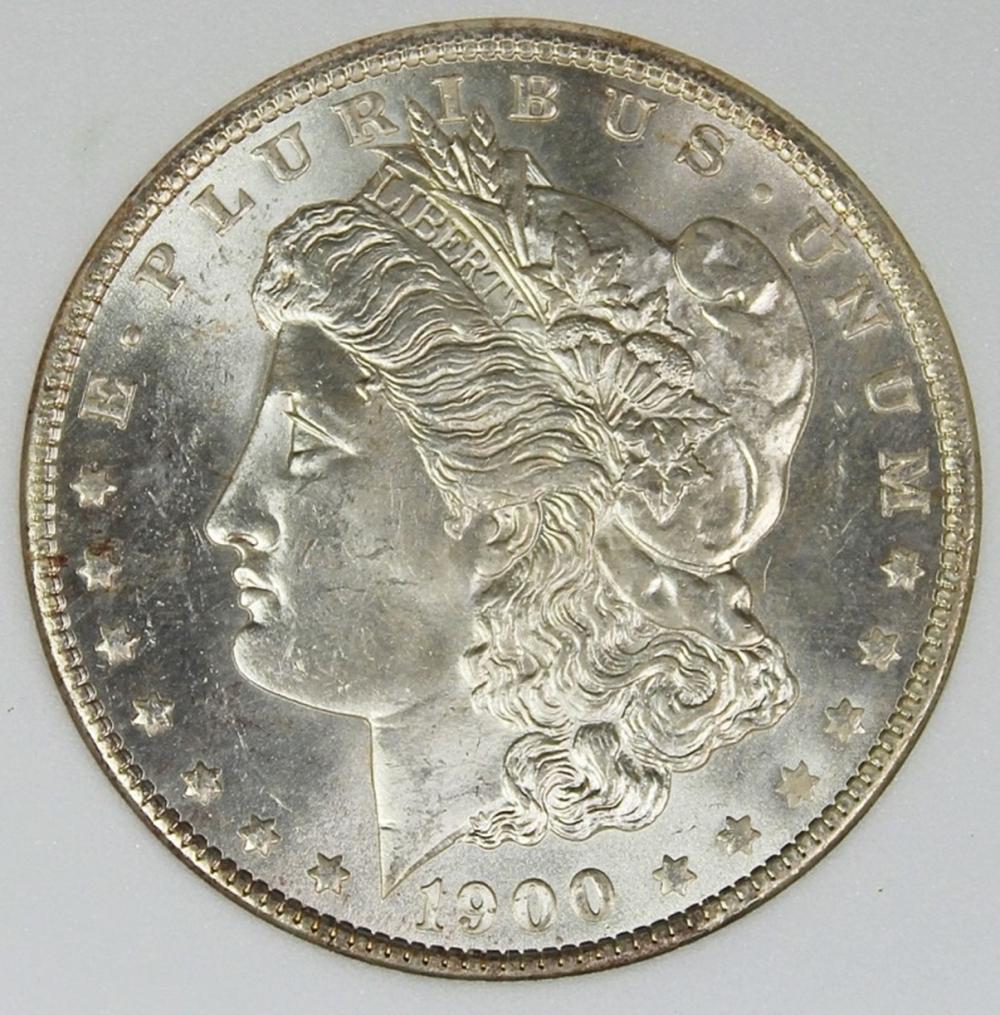 Lot 245: 1900-O MORGAN SILVER DOLLAR