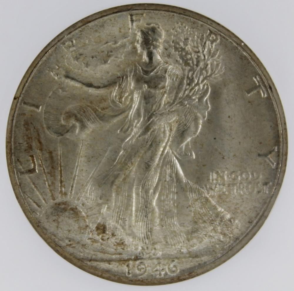 Lot 253: 1946-D WALKING LIBERTY HALF DOLLAR