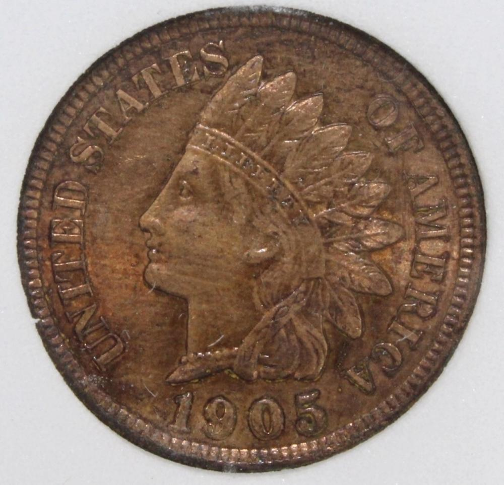Lot 255: 1905 INDIAN CENT