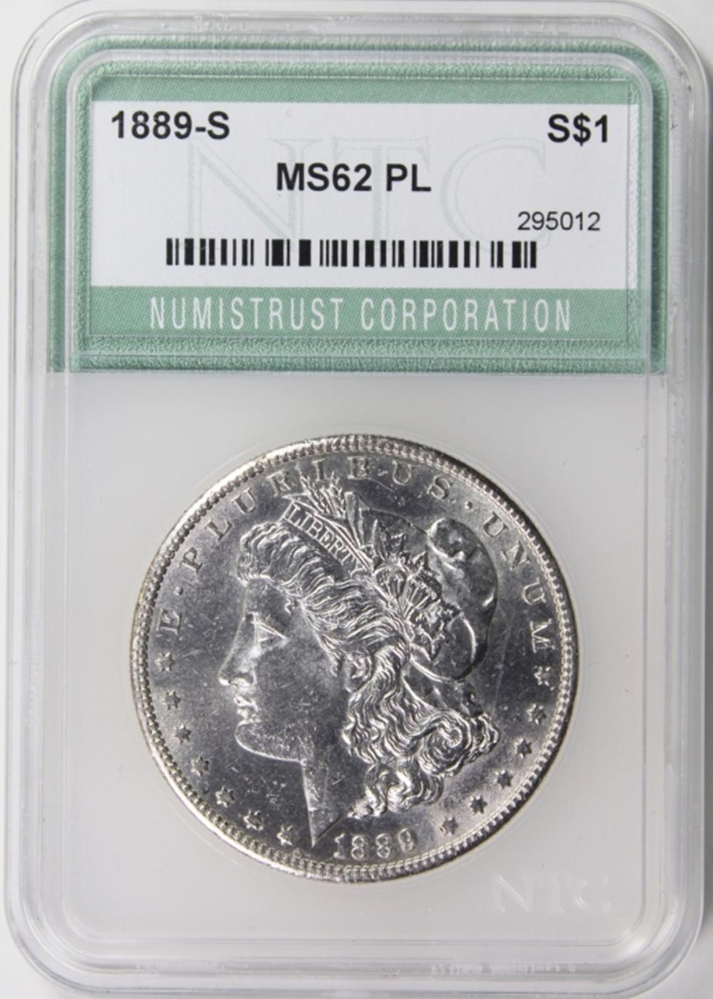 Lot 260: 1889-S MORGAN DOLLAR