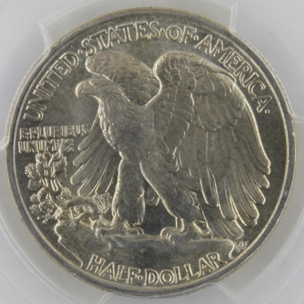 Lot 265: 1942 WALKING LIBERTY HALF DOLLAR