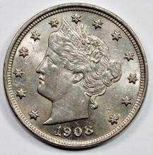 Lot 281: 1908 LIBERTY NICKEL