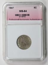 Lot 283: 1897 LIBERTY NICKEL