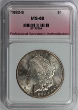 Lot 296: 1882-S MORGAN SILVER DOLLAR