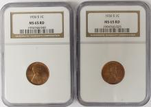 Lot 309: TWO 1936-S LINCOLN CENTS