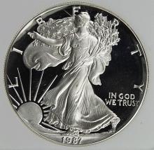 Lot 322: 1987 AMERICAN SILVER EAGLE