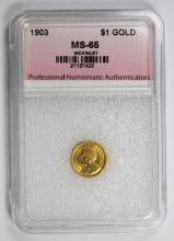 Lot 334: 1903 MCKINLEY LOUISIANA PUCHASE GOLD DOLLAR