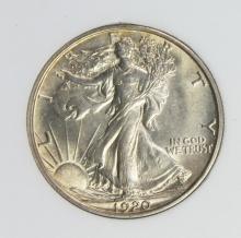 Lot 338: 1920 WALKING LIBERTY HALF DOLLAR