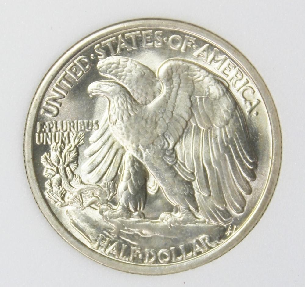 Lot 339: 1935 WALKING LIBERTY HALF DOLLAR