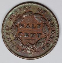 Lot 335: 1828 HALF CENT