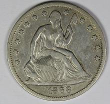Lot 344: 1868-S SEATED HALF DOLLAR
