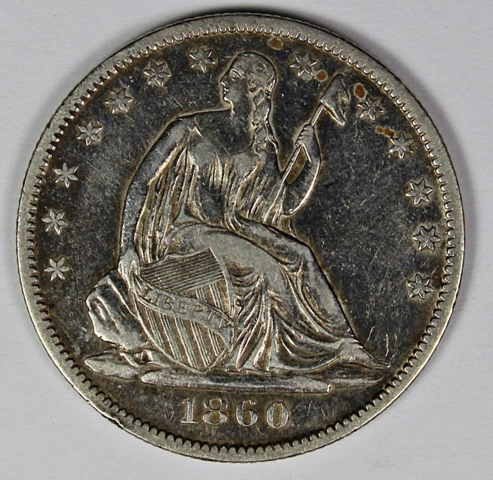 Lot 345: 1860-O SEATED HALF DOLLAR