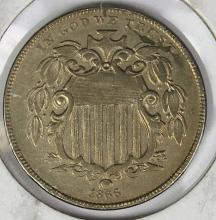 Lot 359: 1866 RAYS SHIELD NICKEL