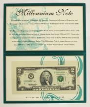 Lot 367: 12- DEPT. OF TREASURY PACKAGED 1995 $2.00 BILLS