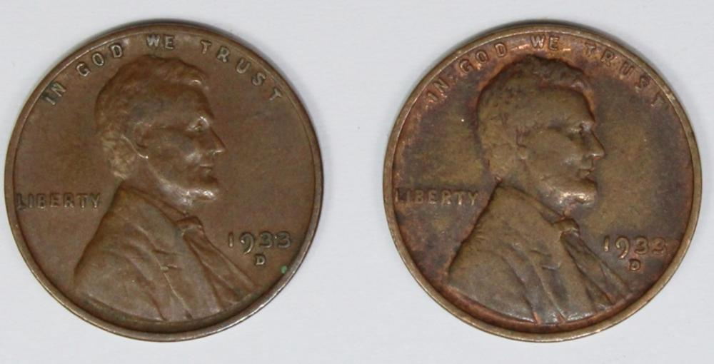 Lot 366: 1933-D LINCOLN CENT ROLL