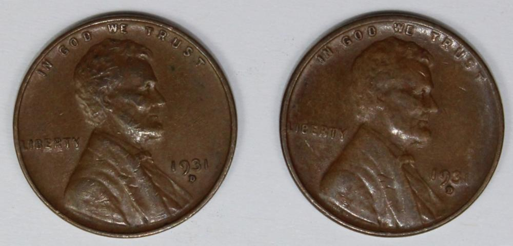 Lot 362: 1931-D LINCOLN CENT ROLL