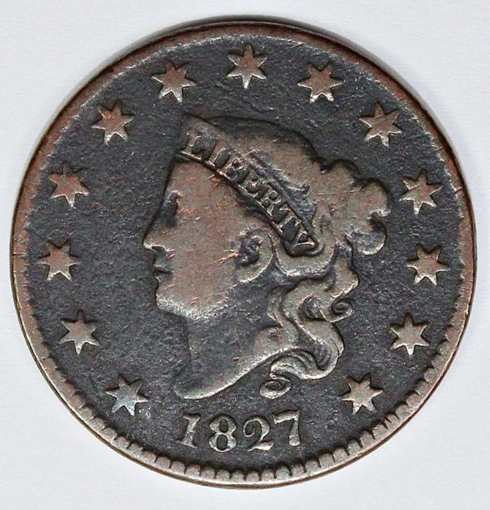 Lot 368: 1827 LARGE CENT