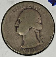 Lot 383: 1932-D WASHINGTON QUARTER