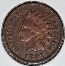 Lot 386: 1897 INDIAN CENT
