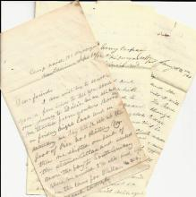 3 Civil War Letters: NY 6th; Stonewall Jackson, Enfield Rifles; 30,000 Men