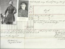 Confederate Brig. Gens. Winder, Frost Sign Document; Died Before He Could Be Hanged
