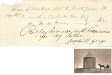 Early Massachusetts Documents Include Military Powder House Receipt, Federalist Signature